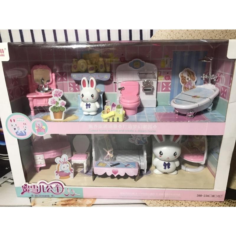 Bộ Đồ Chơi Nhà Tắm và Phòng ngủ của Thỏ