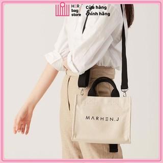 Túi vải đeo chéo xách tay thời trang in Marhen J - túi tote đeo chéo vải canvas thời trang Hàn Quốc HerBAG Store MHJ01