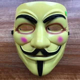 Mặt nạ hacker màu vàng đục