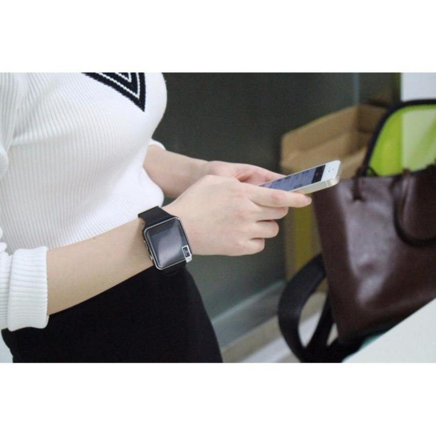 Đồng hồ thông minh X6 màn hình cong màu đen