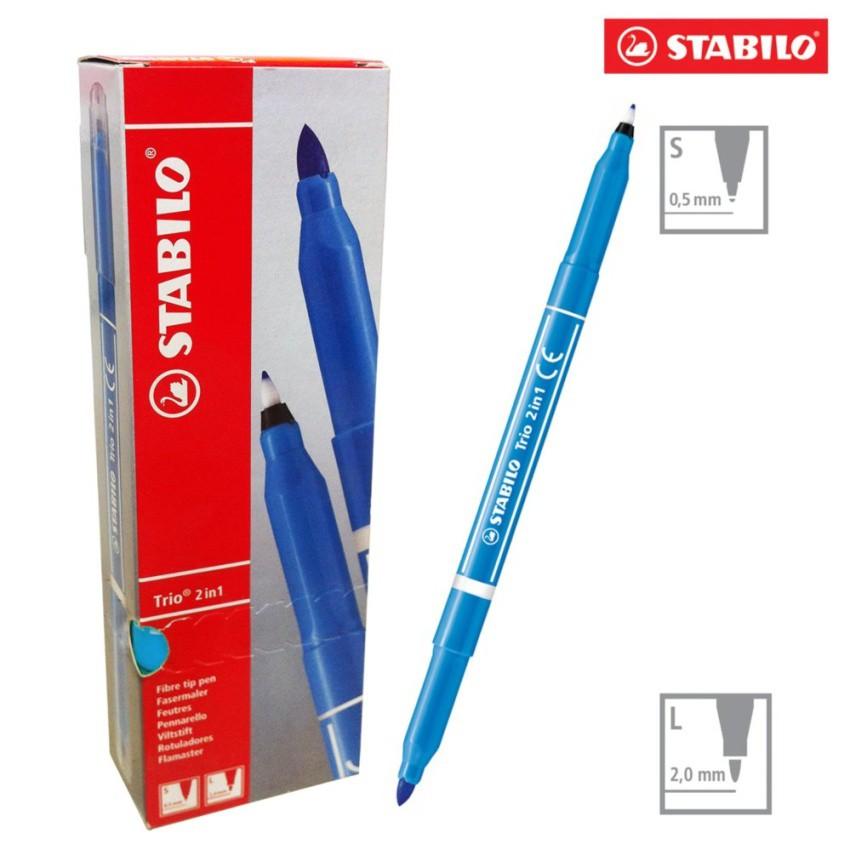 Hộp 10 cây bút lông STABILO Trio 2 in 1 (màu xanh nhạt) - 9930621 , 272186771 , 322_272186771 , 264000 , Hop-10-cay-but-long-STABILO-Trio-2-in-1-mau-xanh-nhat-322_272186771 , shopee.vn , Hộp 10 cây bút lông STABILO Trio 2 in 1 (màu xanh nhạt)