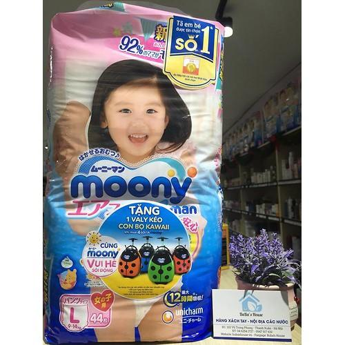 Bỉm Moony quần L44 Girl (9-14kg) Nhật Bản