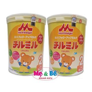 [Mã MKBCS01 hoàn 8% xu đơn 250K] Combo 2 hộp Sữa Morinaga số 2 850g mẫu mới (có tem chính hãng, date T6 2022) thumbnail