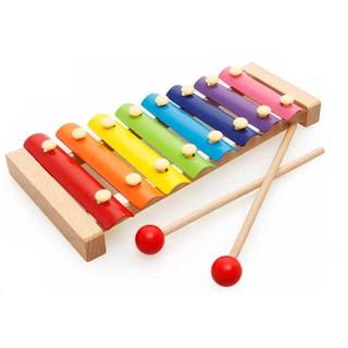 Đồ Chơi Gỗ Thông Minh Đàn Xylophone 8 Âm
