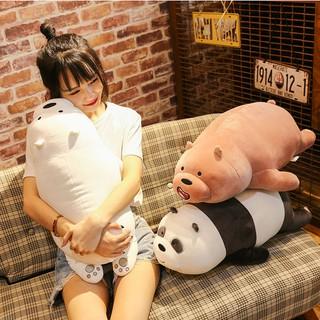 We Bare Bears Grizzly Ice Bear Panda Stuffed Animals Plush Soft Doll Girls Toys