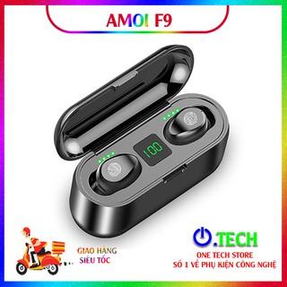 [ĐỈNH CAO]-Tai nghe True Wireless Amoi F9, tai nghe Bluetooth cảm ứng chạm, chống nước, chống bụi, bảo hành 06 tháng