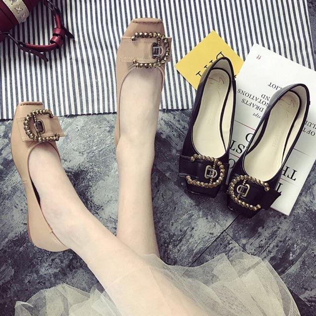 (ORDER) Giày búp bê mũi vuông phối khoá C đá - 2562125 , 998829929 , 322_998829929 , 460000 , ORDER-Giay-bup-be-mui-vuong-phoi-khoa-C-da-322_998829929 , shopee.vn , (ORDER) Giày búp bê mũi vuông phối khoá C đá