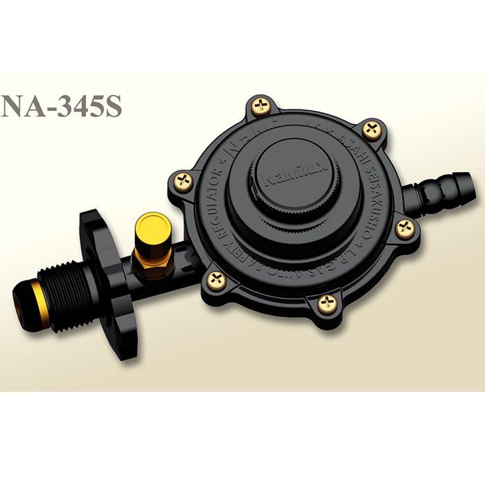 Bộ Van Ngắt Tự Động + dây Gas 1,5m cao su 3 lớp lõi thép NaMilux NA-345S-VN + 2 cổ dê