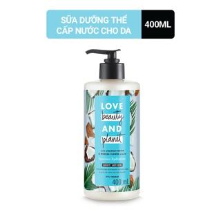 Sữa dưỡng thể giúp phục hồi da thiếu ẩm Love Beauty And Planet Luscious Hydration 400ml thumbnail