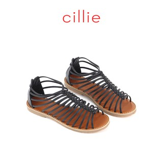 Giày sandal nữ đế bệt khóa hậu Cillie 1063