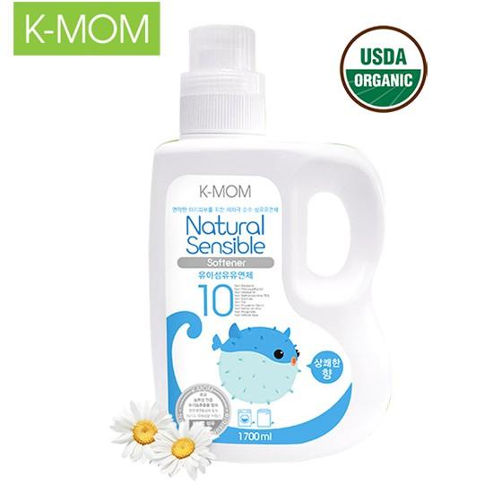 Nước xả vải hữu cơ K-Mom Hàn Quốc dạng chai (1700ml)- xanh