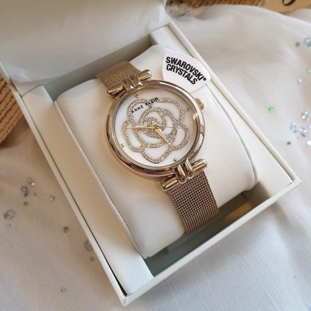 Đồng hồ nữ Anne Klein 3102 hoa pha lê gold - đồng hồ nữ cao cấp