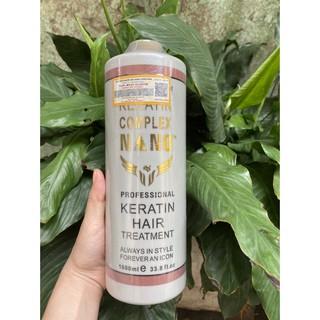 Phục hồi KERATIN NANO COMPLEX 1000ml, phục hồi tóc hư tổn nặng, giúp tóc chắc khỏe có độ đàn hồi, kích thích mọc tóc