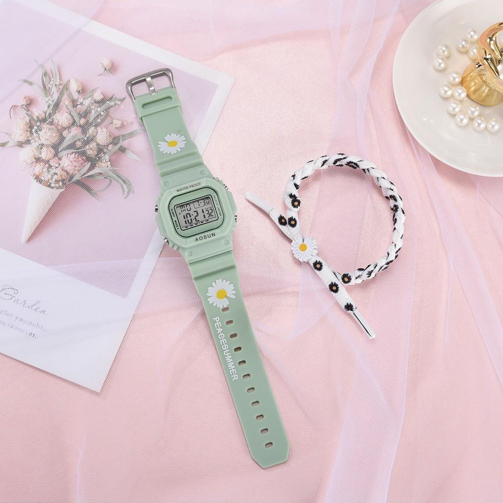 Đồng hồ thể thao nam nữ SPPORS điện tử, dây cao su Hoa Cúc cực hot DH106
