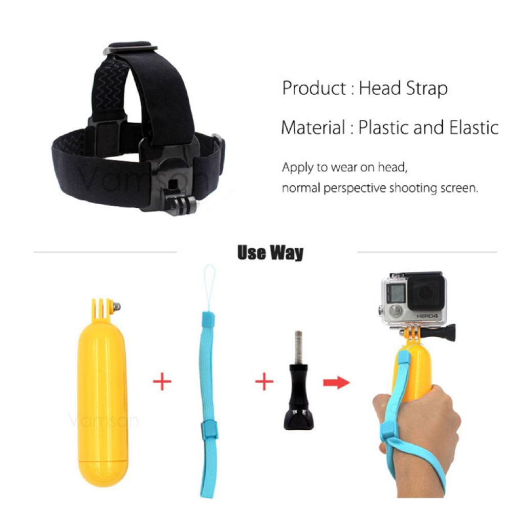 A Action Camera Accessories Tripod Floaty bobber Suction Cup For Xiaomi 4K