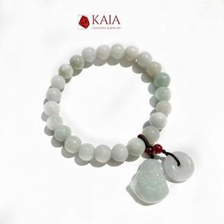 Vòng tay phong thủy cẩm thạch 8 li - May măn bình an - KAIA thumbnail