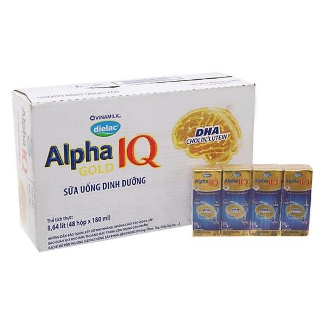 Sữa bột pha sẵn Dielac Alpha Gold 180mlx48hộp