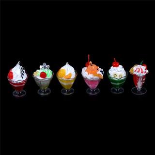 KJ♠ 1:6 Dollhouse Miniature Soldier BJD props Siwan Fruit Icecream Jelly