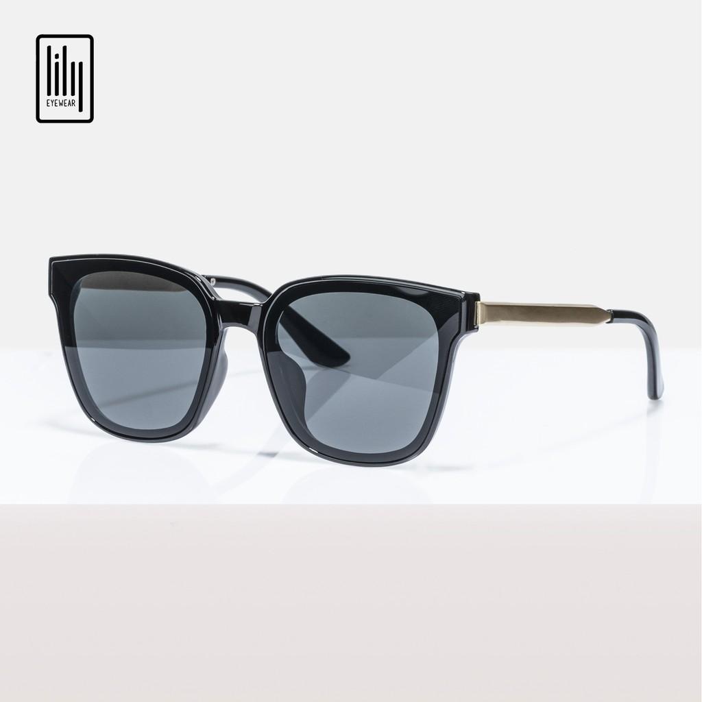 Kính mát nam nữ Lilyeyewear chống UV400, thiết kế mắt vuông dễ đeo, màu sắc thời trang - Y6035