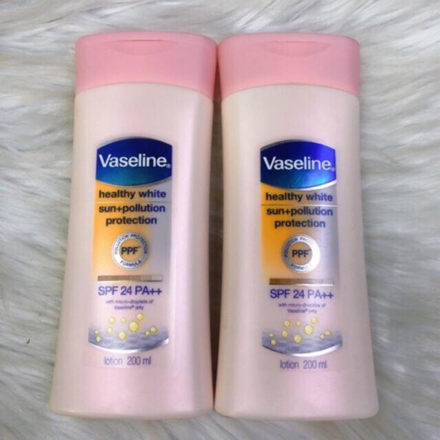 Sữa dưỡng thể Vaseline Healthy White SPF 24 PA ++ 200ml