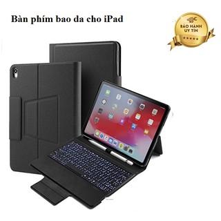 [MỚI] Bàn phím bao da cho iPad Air 3 2019 10.5 inch/ iPad mini 5/ iPad pro 10.5inch - Có đèn bàn phím Giá đỡ dây gài Bút