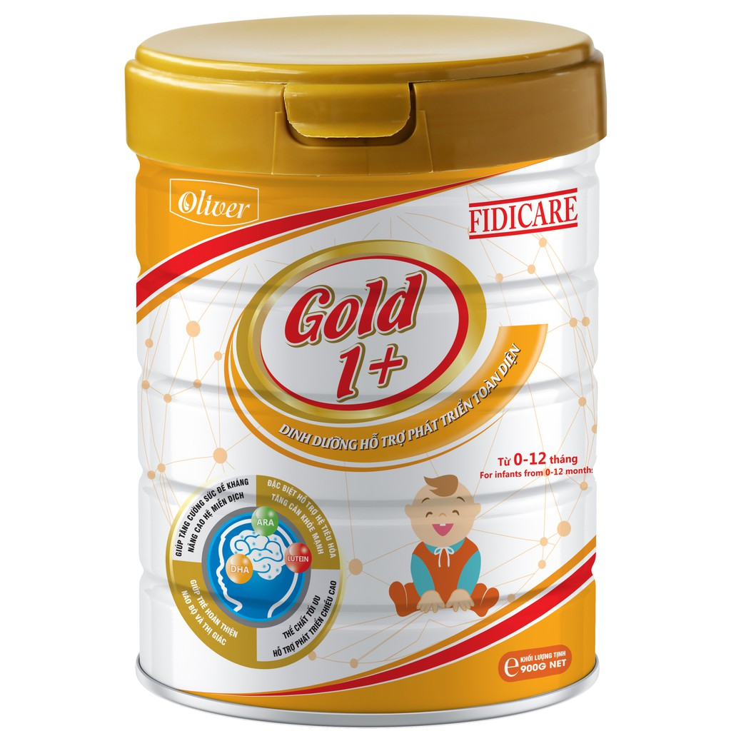 Sữa bột Fidicare Gold 1+ 900g