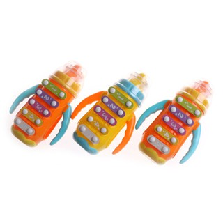 AN* Baby Kids Sound Music Milk Bottle Learning Musical Infant Feeding Bottle Toy