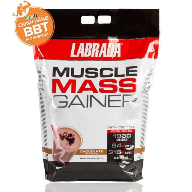 Sữa tăng cân, tăng cơ Muscle Mass Gainer 12Lbs (5.44Kg) [CHÍNH HÃNG HOA KỲ]