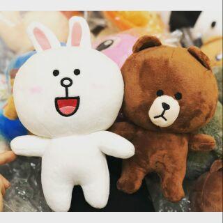 Gấu bông Thỏ Cony và Gấu Brown (ảnh thật)