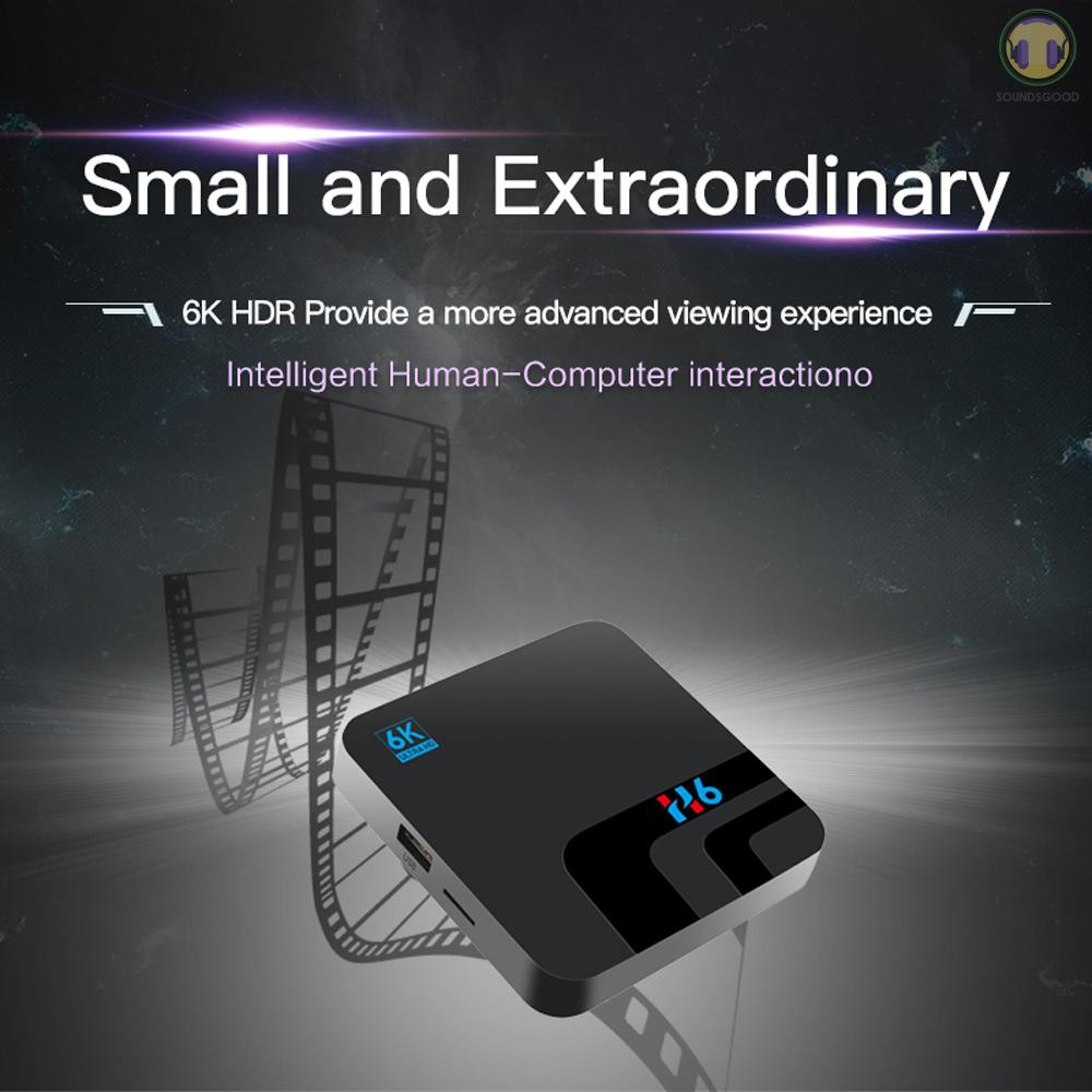 ♫ SG H6 Smart TV Box Android 9.0 Allwinner H6 UHD 4K Media Player 6K HDR 2GB / 16GB 2.4G WiFi 100M LAN USB3.0 H.265 VP9