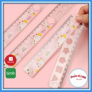 Thước kẻ học sinh đa năng gấp gọn dài 30cm có đường kẻ xoắn kèm nhiều khuôn hình dễ thương 01205 Buôn Rẻ thumbnail