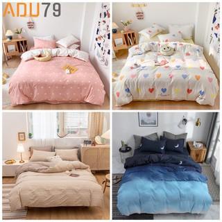 [ FREESHIP ❤️] Bộ Ga Giường Và Vỏ Gối Cotton Korea ADU79 Bedding Đủ Kích Thước Trải Nệm 1m4, 1m6, 1m8 Chưa Gồm Chăn
