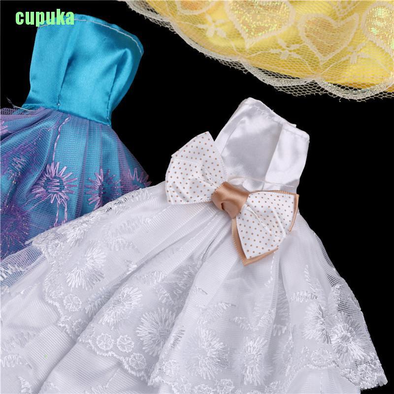 Đầm Đồ Chơi Búp Bê Đính Nơ Xinh Xắn