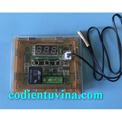 Vỏ mica cho mạch Cảm Biến Nhiệt Độ XH-W1209 Relay 12VDC