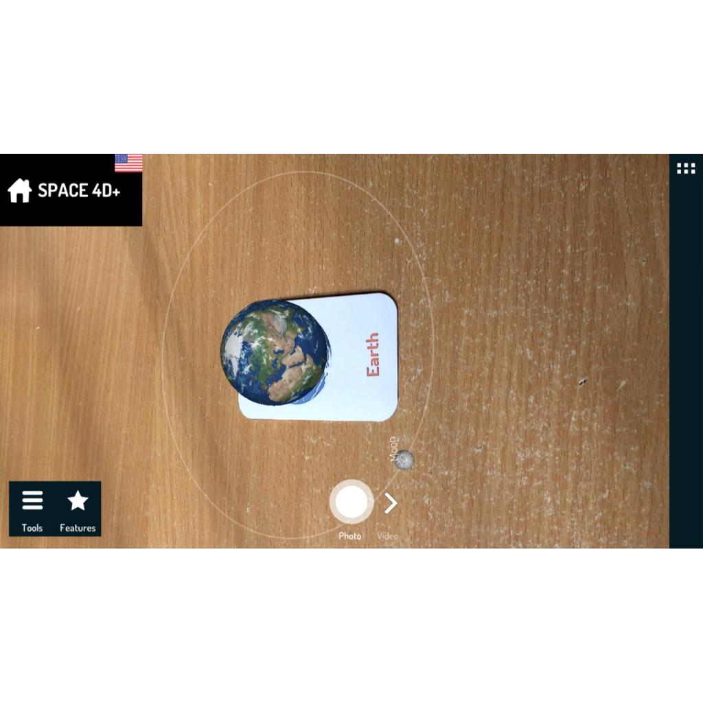 [Bộ 26 Thẻ Space 4D - Ko Ép Plastic] Thẻ Không Gian 4D:có màu, Tiếng Việt 2 mặt cho Bé...