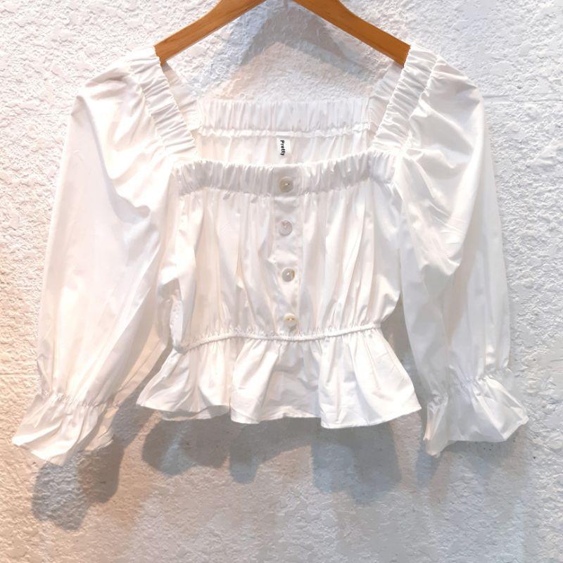 Mặc gì đẹp: Gợi cảm với Áo trắng tay lửng DA224