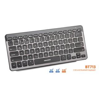 Bàn phím không dây (Dual Mode 2.4Ghz/Bluetooth 5.0) Newmen BT713
