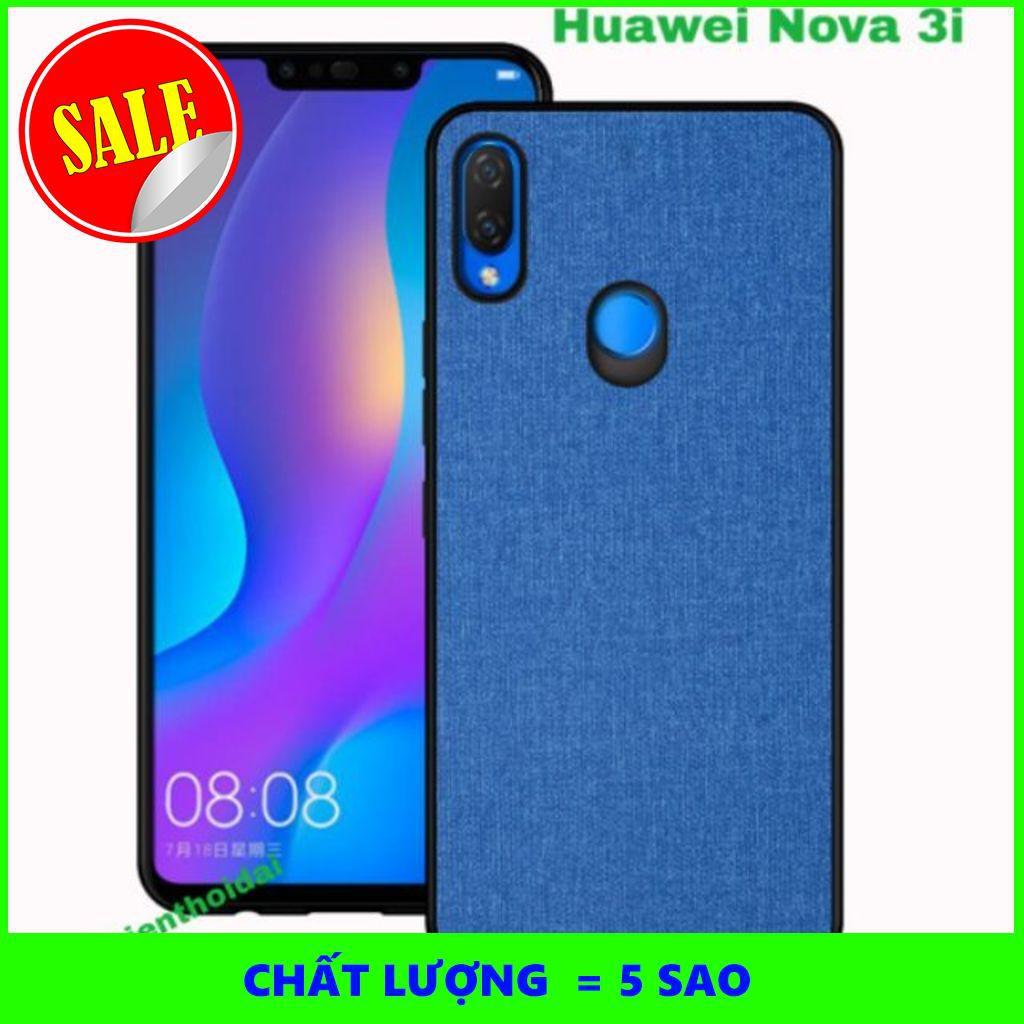 [5SAO]  Ốp lưng Huawei Nova 3i vân vải Jean chống mồ hôi vân tay