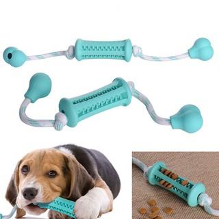 Rubber Cat Dispenser Bone Chew Feeder Dog Pet Teeth Toys