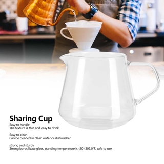 Allinit Transparent Cup High Borosilicate Glass Coffee Sharing Anti‑Scalding for Drinking Tea