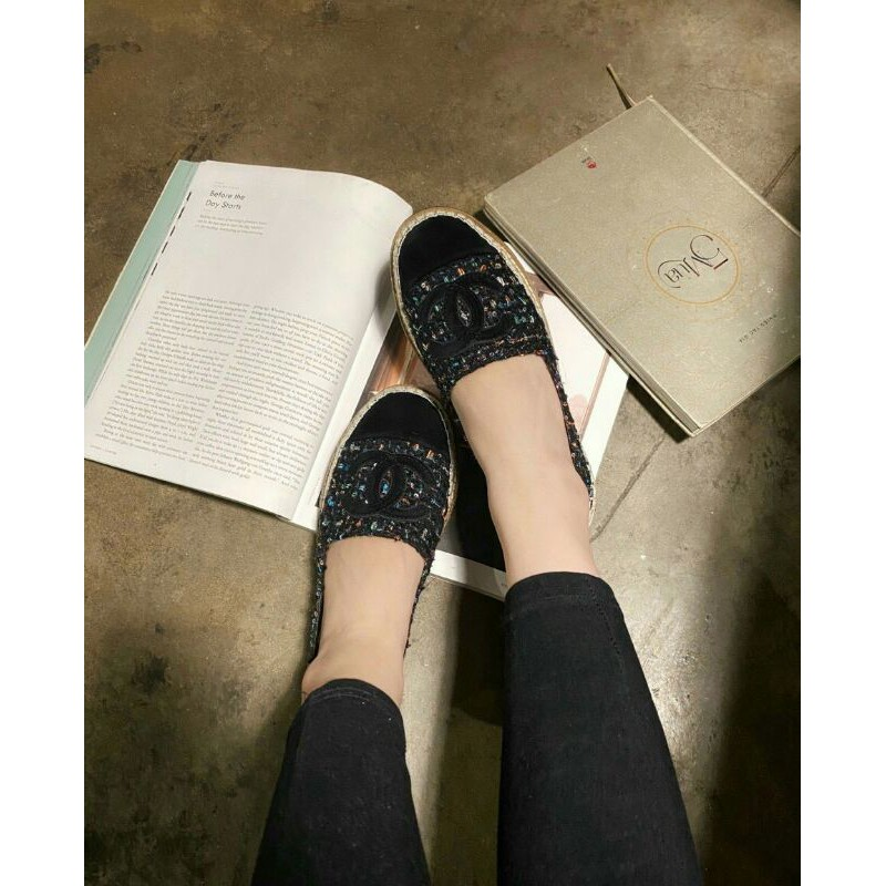 giày slip on vải dạ cn
