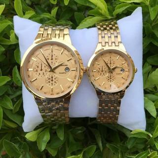 đồng hồ đôi nam nữ Baisuns BS004 chống nước chống xước,tặng kèm vòng tì hưu