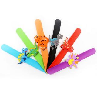 6 Pcs Dinosaur Bracelet Rubber Ornaments Party Toys Supplies