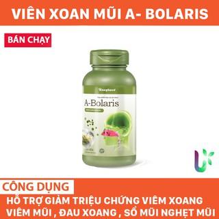 [ Mua 2 Tặng 1 xịt tinh dầu] Thực phẩm chức năng Hỗ trợ viên xoang viêm mũi A- Bolaris Xoang Hoàn nguyên hộp 60 viên thumbnail