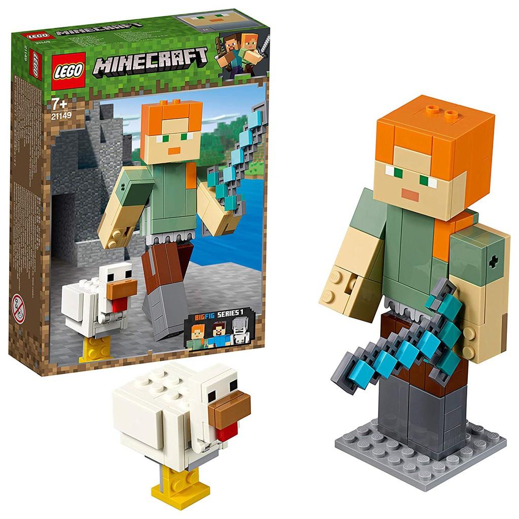 LEGO Minecraft Alex Khổng Lồ Và Gà 21149
