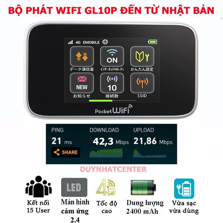 Bộ phát wifi 3g/4g đa mạng huawei Gl10p- hàng nội địa Nhật – Tặng sim Viettell 62GB/tháng Giá chỉ 419.000₫
