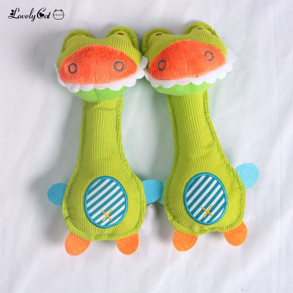 Giraffe Doll Baby Hand Rattle Graping BB Stick Eduional Toy