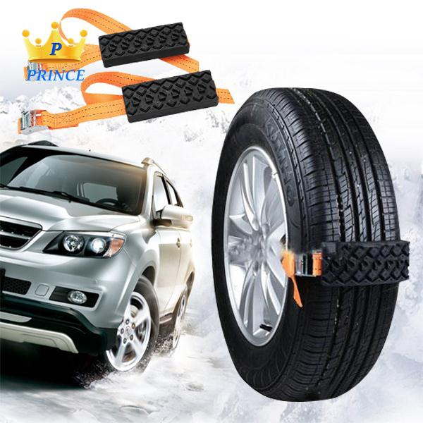 Ready Stock Strap Snow Chain Rubber Nylon 2PCS Accessories Outdoor