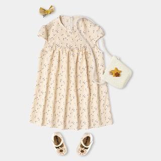 [Mã KIDMALL15 hoàn 15% xu đơn 150K] Váy Bé Gái Ngắn Tay Hoạ Tiết Hoa Nhí Xinh Xắn BELLO LAND