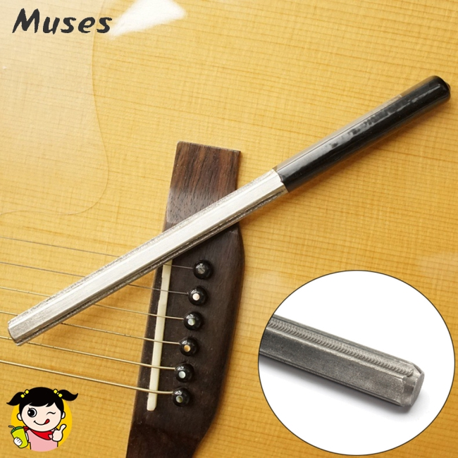 Guitar Fret Crowning File Dressing File with 3 Size Edges Professional Luthier Tools Stringed